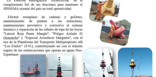 Mantenimiento y reemplazo del Sistema de Fondeo de las Boyas del Canal de Navegación de la Isla de Margarita